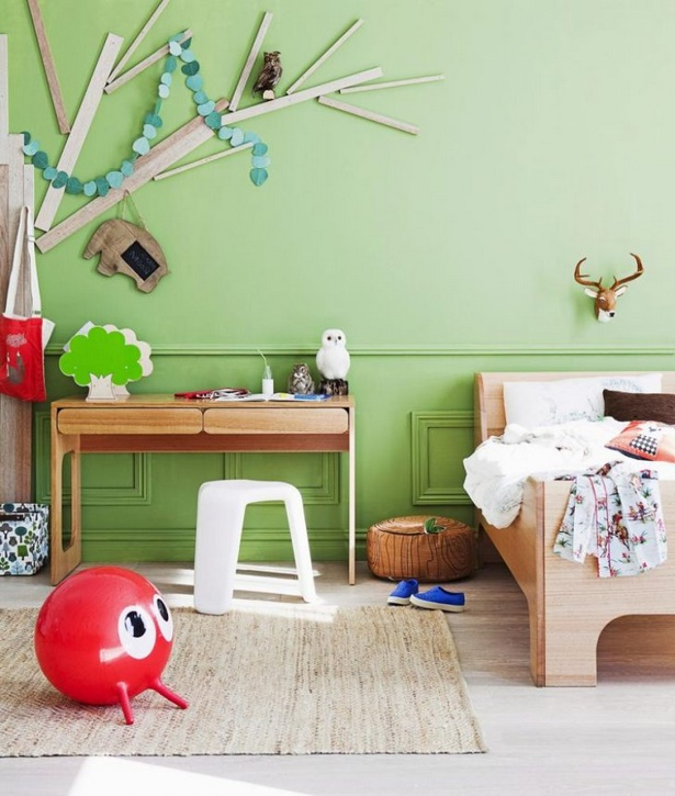 Babyzimmer wandgestaltung malen - Streifen an die wand malen ...