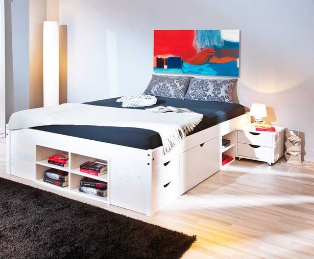 bett ideen f r kleine zimmer. Black Bedroom Furniture Sets. Home Design Ideas