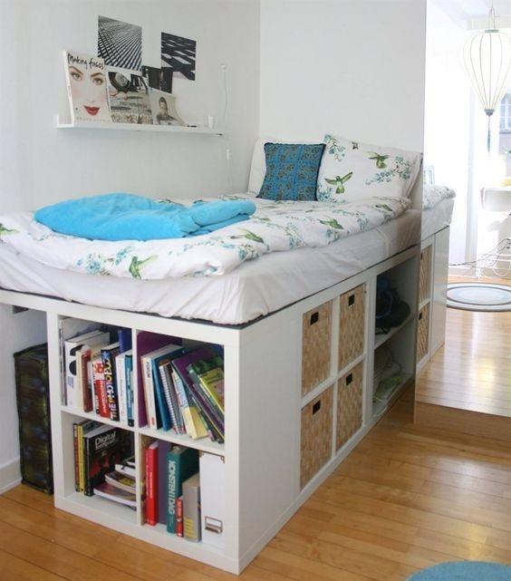 bett ideen f r kleine zimmer. Black Bedroom Furniture Sets. Home Design Ideas