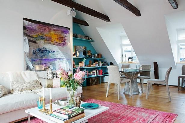Wohnzimmer Mit Dachschräge dachschräge wohnzimmer einrichten