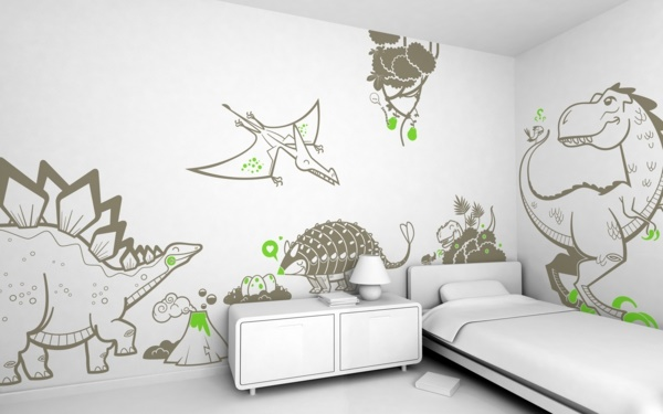 dinosaurier kinderzimmer ideen. Black Bedroom Furniture Sets. Home Design Ideas