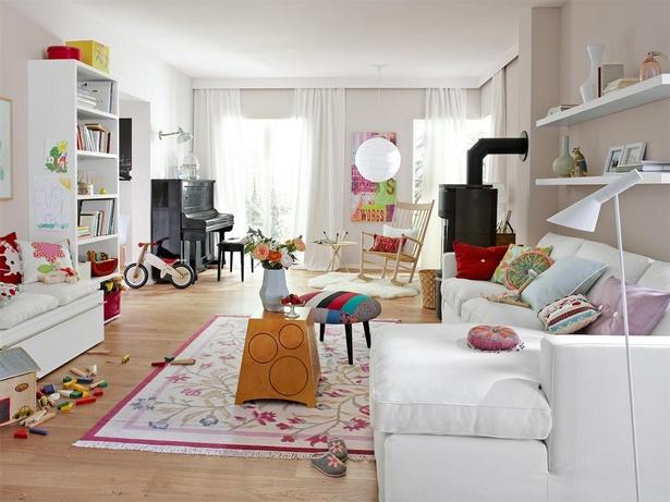 Nordische Mode Bei Der Zimmergestaltung Großes Wohnzimmer