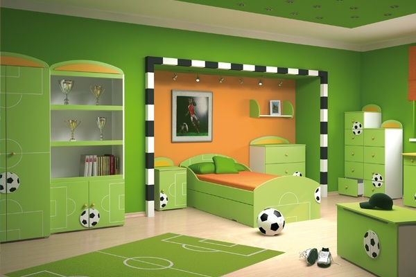 fu ball kinderzimmer gestalten. Black Bedroom Furniture Sets. Home Design Ideas