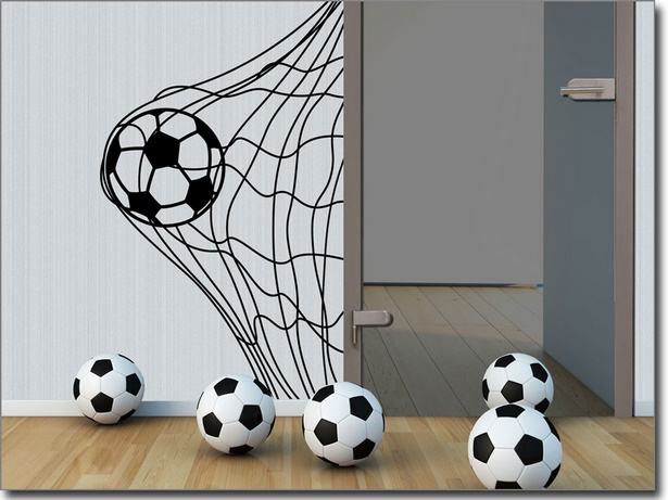fussball deko kinderzimmer. Black Bedroom Furniture Sets. Home Design Ideas