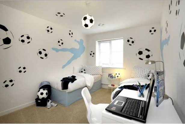 fussball kinderzimmer ideen. Black Bedroom Furniture Sets. Home Design Ideas