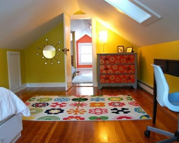 Jugendzimmer dachschr ge gestalten - Jugendzimmer gestalten farben ...
