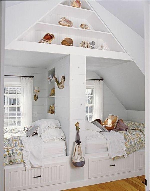 Jugendzimmer dachschr ge ideen for Bett scandinavian design