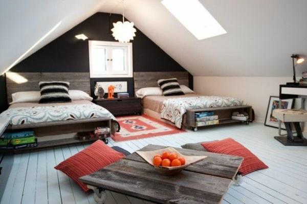 Wohnideen Jugendzimmer Mädchen jugendzimmer einrichten dachschräge