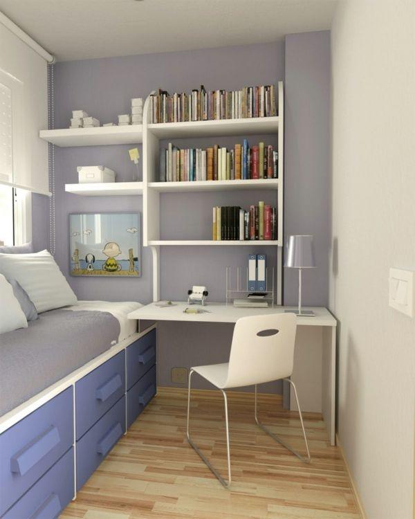 Jugendzimmer gestalten kleiner raum