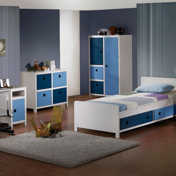 jugendzimmer in blau. Black Bedroom Furniture Sets. Home Design Ideas