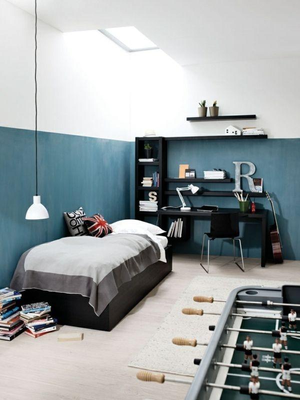 jugendzimmer jungen dachschr gen. Black Bedroom Furniture Sets. Home Design Ideas