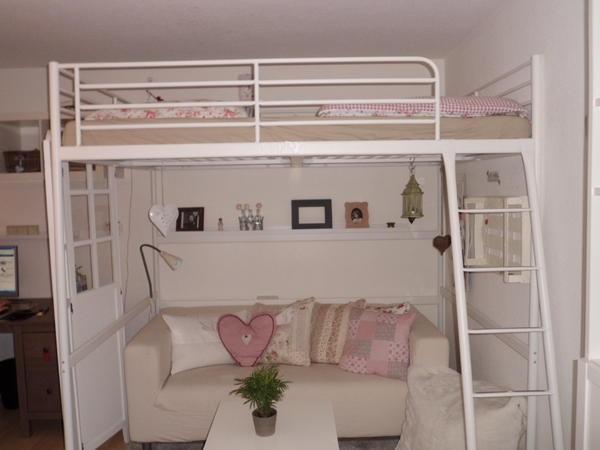 Jugendzimmer mit hochbett gestalten for Jugendzimmer hochbett mit sofa