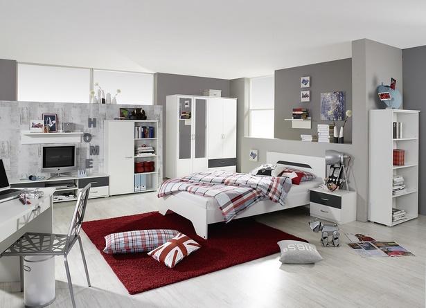 Jugendzimmer rot weiß
