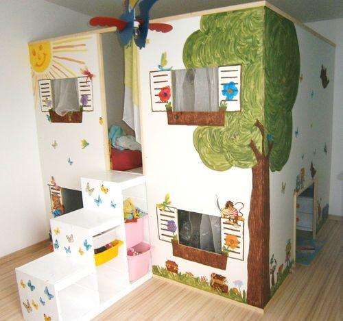 Kinderzimmer 2 betten for Jugendzimmer mit doppelbett
