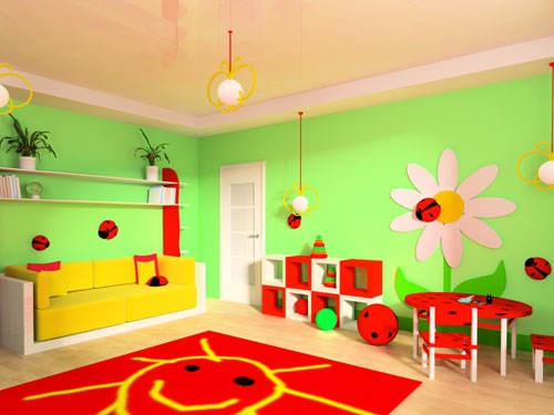 Kinderzimmer deko gr n for Wanddeko kinderzimmer junge