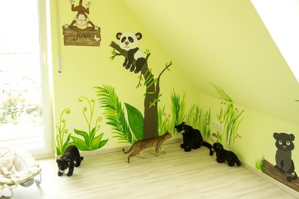 Kinderzimmer dschungel deko - Wandgestaltung kinderzimmer selber machen ...