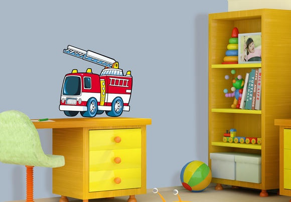 kinderzimmer feuerwehr deko. Black Bedroom Furniture Sets. Home Design Ideas