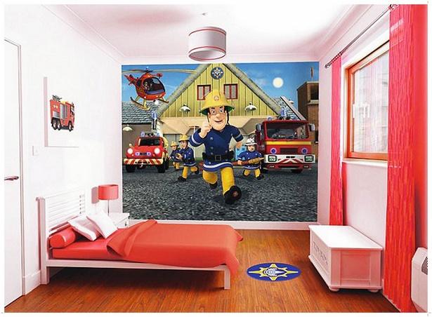 Kinderzimmer feuerwehr deko - Feuerwehrmann sam wandtattoo ...