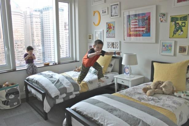 kinderzimmer f r 2 jungs. Black Bedroom Furniture Sets. Home Design Ideas