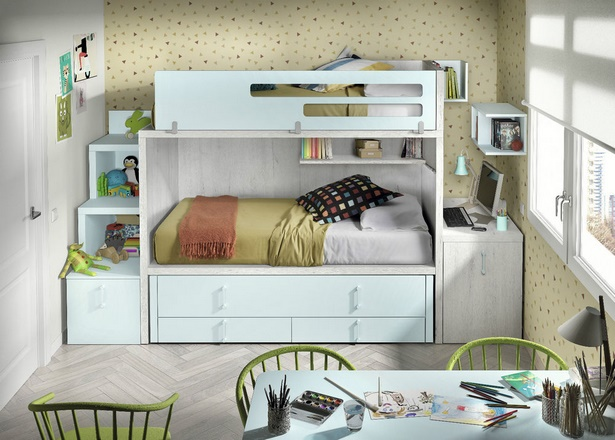 kinderzimmer mit hochbett komplett. Black Bedroom Furniture Sets. Home Design Ideas