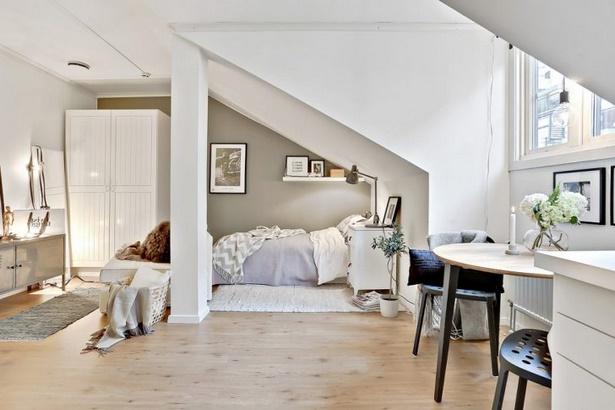 kleines wohn schlafzimmer einrichten. Black Bedroom Furniture Sets. Home Design Ideas