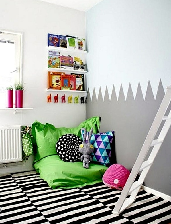 kuschelecken kinderzimmer gestalten. Black Bedroom Furniture Sets. Home Design Ideas