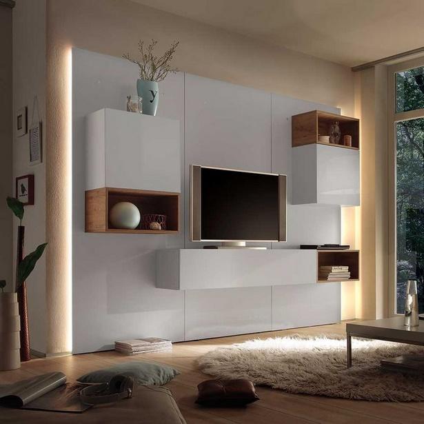 Moderne designer wohnzimmerm bel - Schwarze wohnwand ...