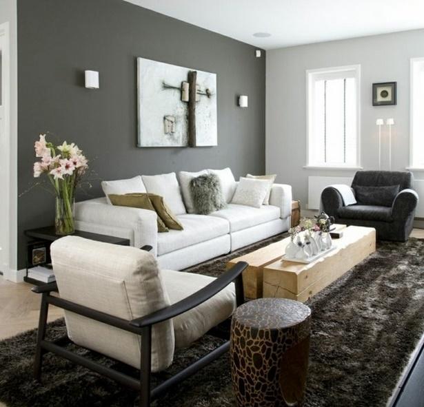 Moderne farben wohnzimmer wand