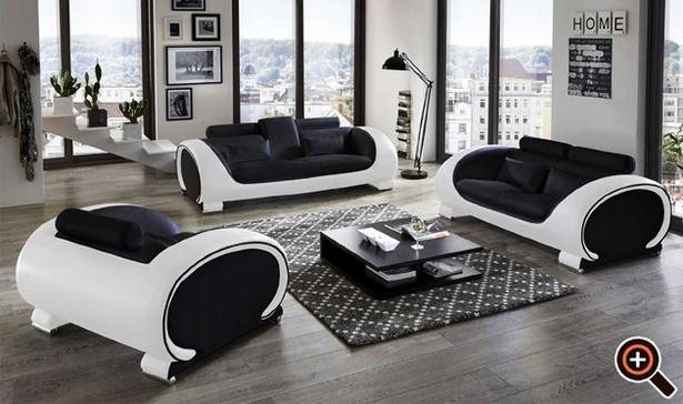 Moderne wohnzimmer schwarz weiss for Modernes wohnzimmer design