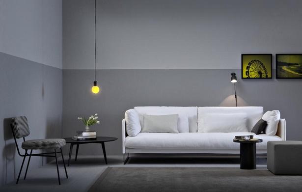 modernes wohnzimmer grau. Black Bedroom Furniture Sets. Home Design Ideas