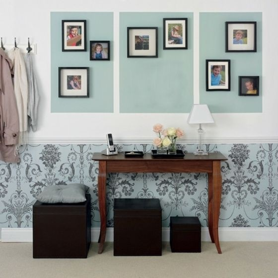 Muster wände wohnzimmer