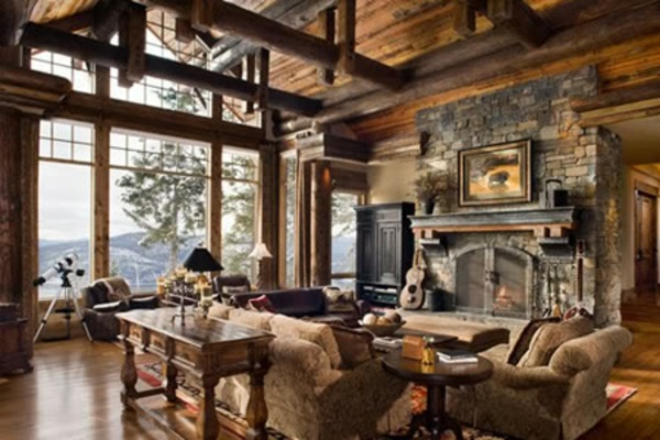 Rustikale möbel wohnzimmer