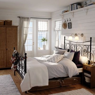 schlafzimmer einrichten landhausstil. Black Bedroom Furniture Sets. Home Design Ideas