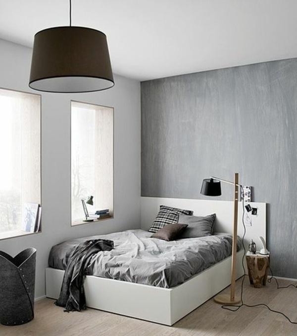 Schlafzimmer gestalten grau weiß