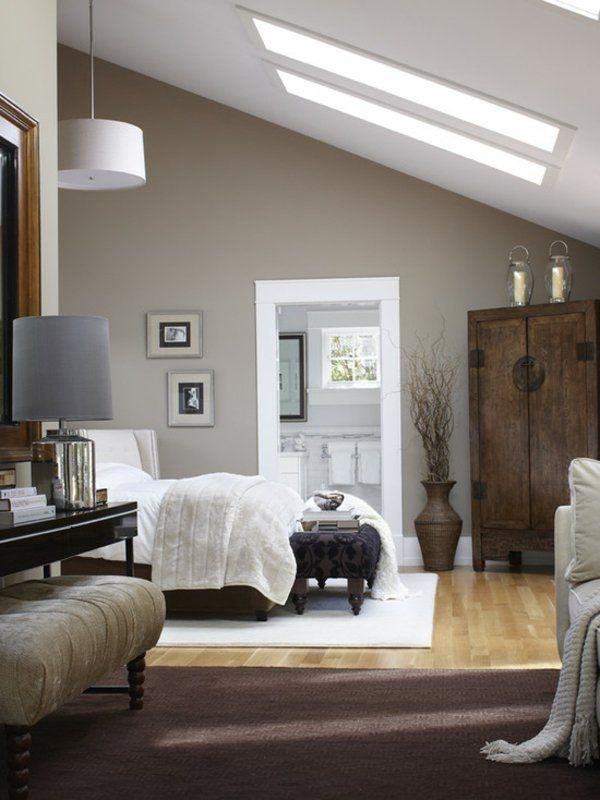 Schlafzimmer Grau Bett Grau Bettbeleuchtung