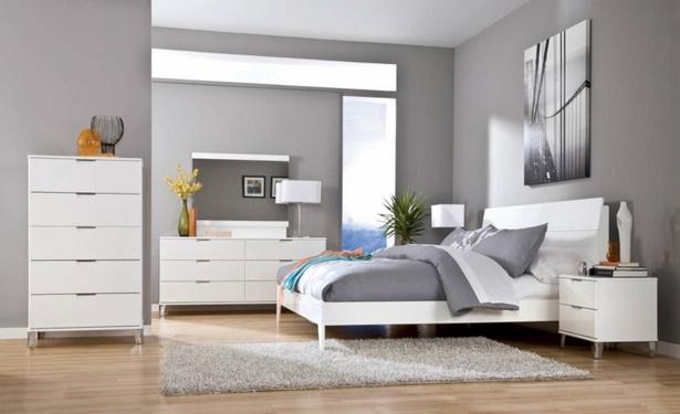 schlafzimmer in grau und wei. Black Bedroom Furniture Sets. Home Design Ideas