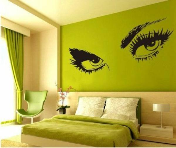 Schlafzimmer Farben Gestalten Decorations In Spanish Wand: Schlafzimmer In Grün Gestalten