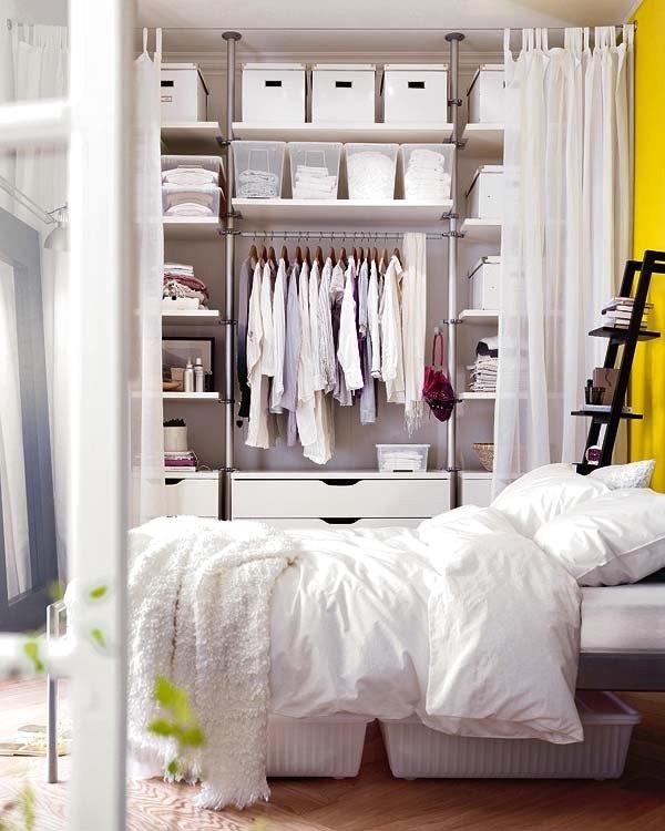 Schlafzimmer ohne schrank gestalten