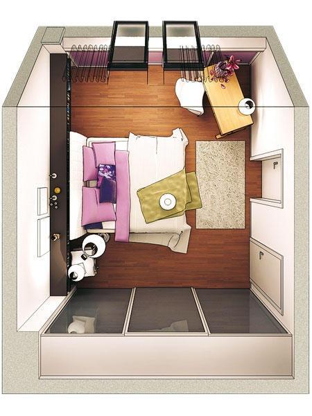 schlafzimmer schr ge gestalten. Black Bedroom Furniture Sets. Home Design Ideas
