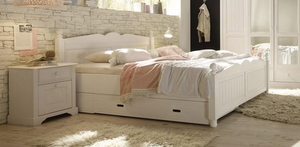 schlafzimmer wei es bett. Black Bedroom Furniture Sets. Home Design Ideas