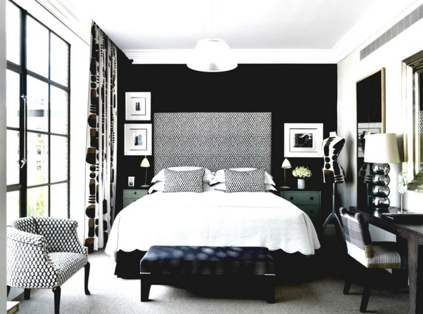 schwarze m bel schlafzimmer. Black Bedroom Furniture Sets. Home Design Ideas