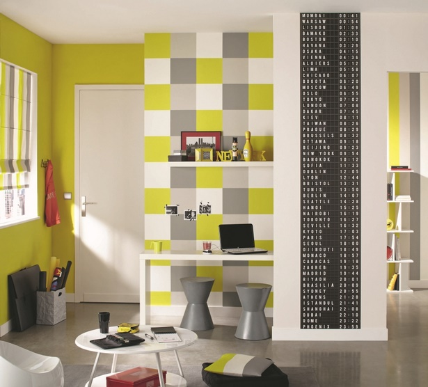 tapeten ideen f r jugendzimmer. Black Bedroom Furniture Sets. Home Design Ideas