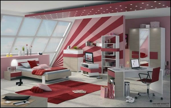 teenager zimmer m dchen. Black Bedroom Furniture Sets. Home Design Ideas