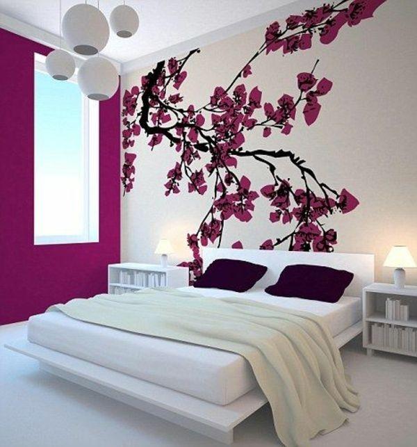 Wandfarbe Schlafzimmer Beispiele - Galerie Von Wohndesign - Zheqa.com