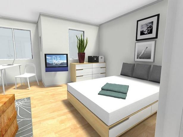 Wohn und schlafraum in einem einrichtungsideen - Wohn schlafzimmer gestalten ...