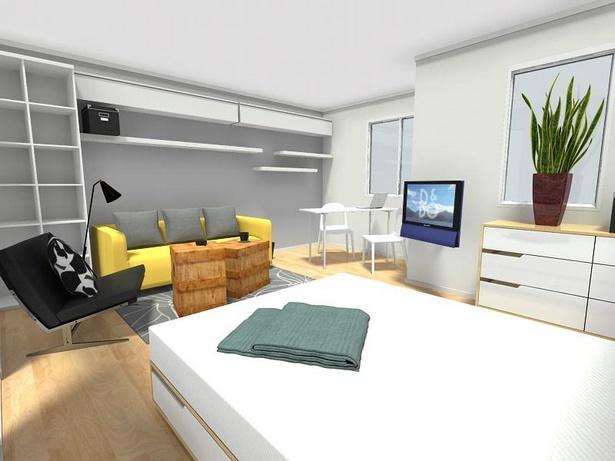 wohn und schlafraum in einem einrichtungsideen. Black Bedroom Furniture Sets. Home Design Ideas