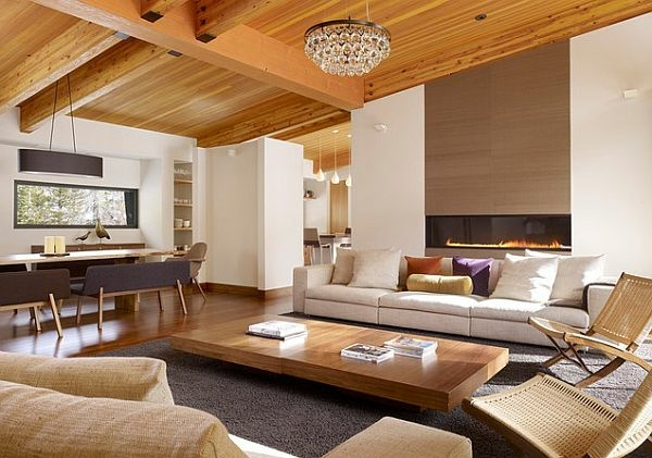 Wohnzimmer holz modern for Wohnzimmer modern luxus