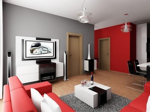 Wohnzimmer mit farbe gestalten