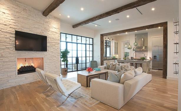 Wohnzimmer modern rustikal