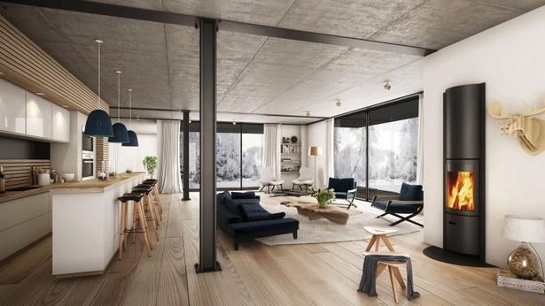 Wohnzimmer rustikal modern